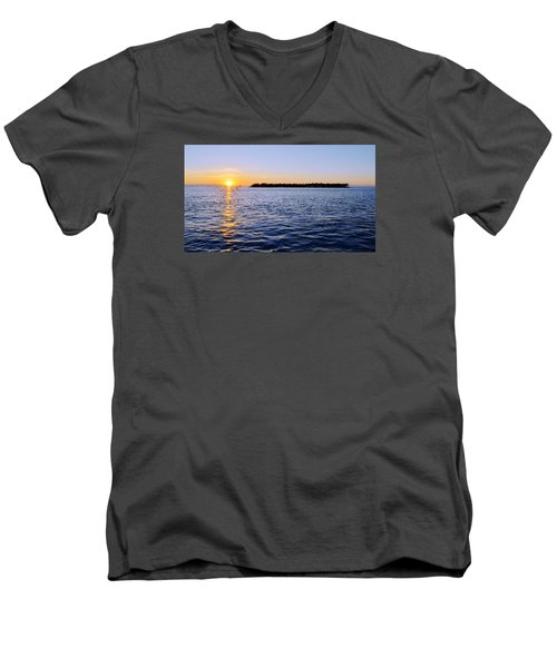 Men's V-Neck T-Shirt featuring the photograph Key Glow by Chad Dutson