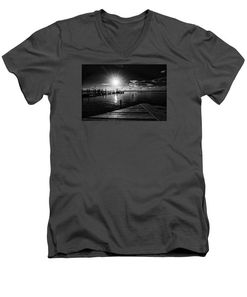 Key Largo Men's V-Neck T-Shirt by Kevin Cable