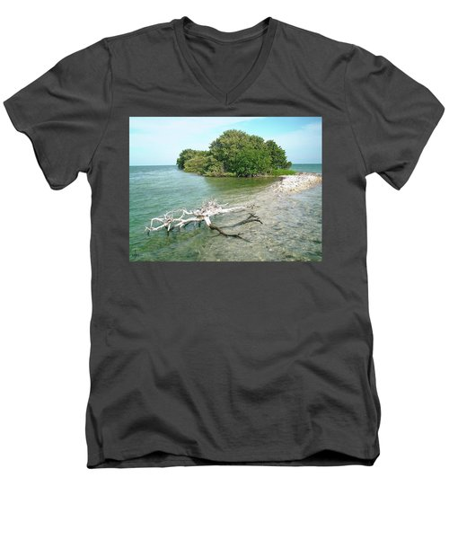 Key Largo Out Island Men's V-Neck T-Shirt