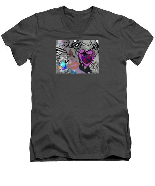 Key To Energy Of Peace  Men's V-Neck T-Shirt