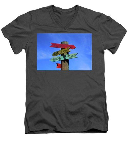 Key West 165 Miles Men's V-Neck T-Shirt