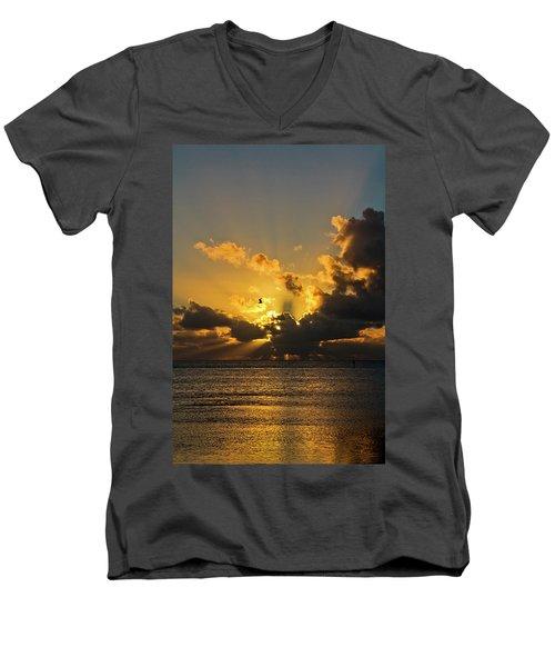 Key West Sunrise 39 Men's V-Neck T-Shirt