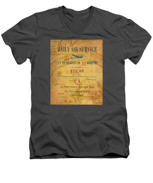 Key West To Havana Men's V-Neck T-Shirt