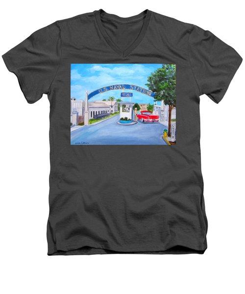 Key West U.s. Naval Station Men's V-Neck T-Shirt