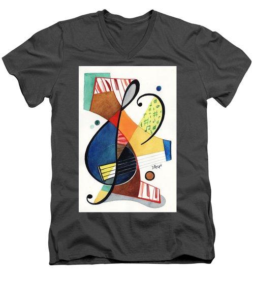 Keys And Clef Men's V-Neck T-Shirt