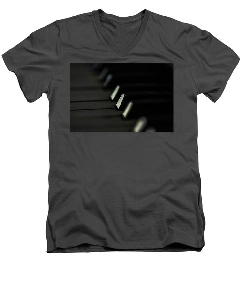 Men's V-Neck T-Shirt featuring the photograph Keys by Jay Stockhaus