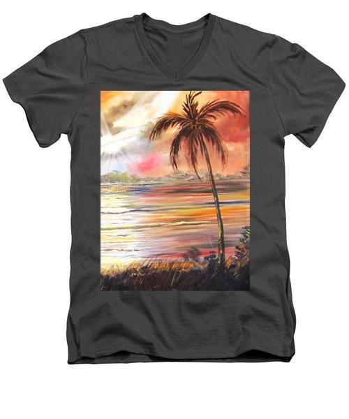 Keys Sunrise, Sunset Men's V-Neck T-Shirt