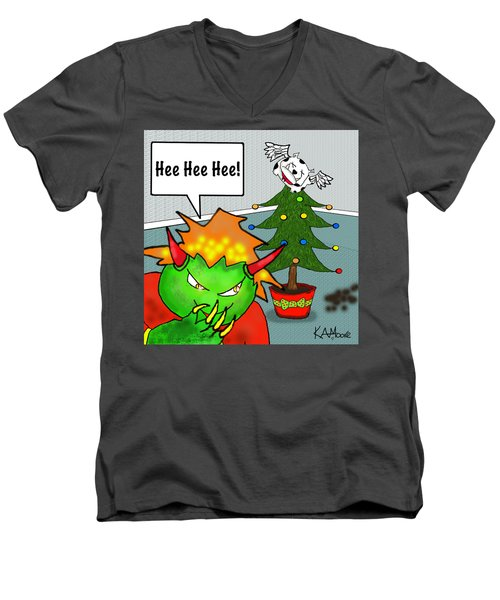 Kid Monsta Xmas 3 Men's V-Neck T-Shirt