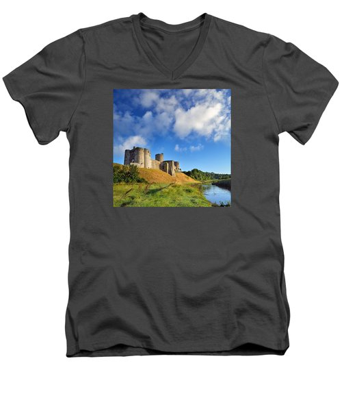 Kidwelly Castle 1 Men's V-Neck T-Shirt