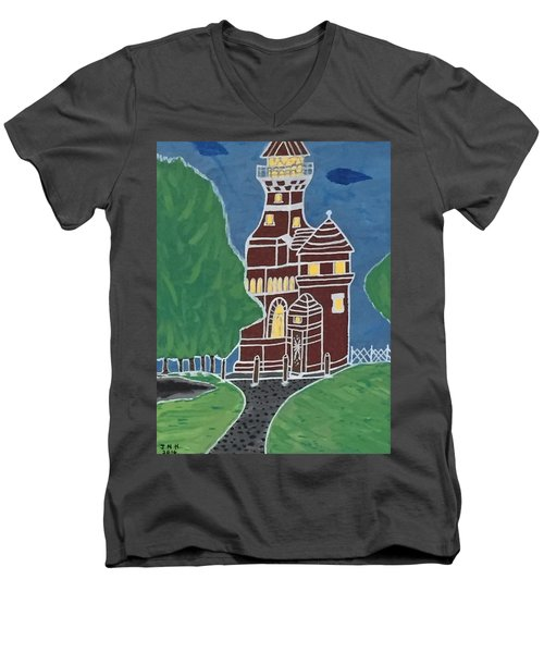 Kiel Germany Lighthouse. Men's V-Neck T-Shirt