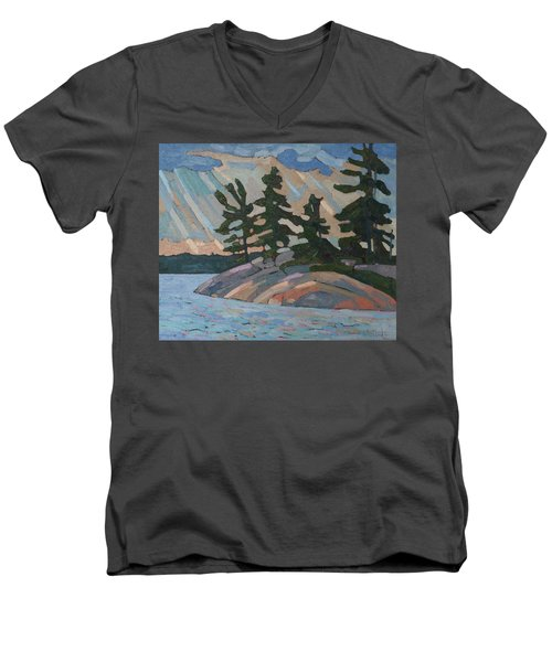 Killbear Pines And Morning Crepuscular Rays Men's V-Neck T-Shirt