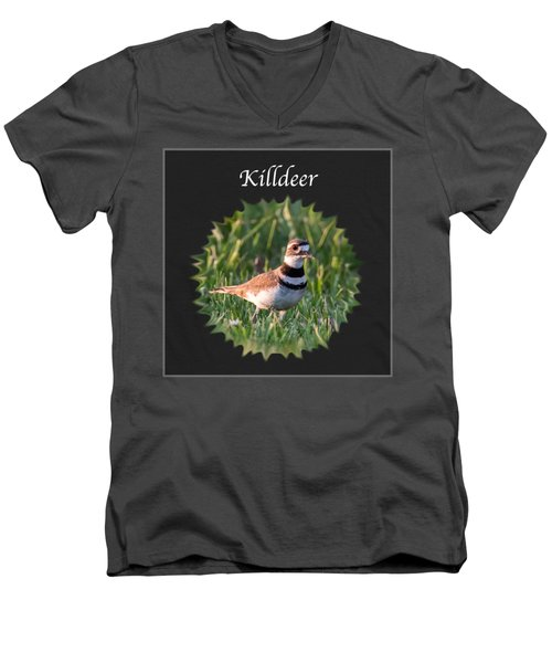 Killdeer Men's V-Neck T-Shirt by Jan M Holden