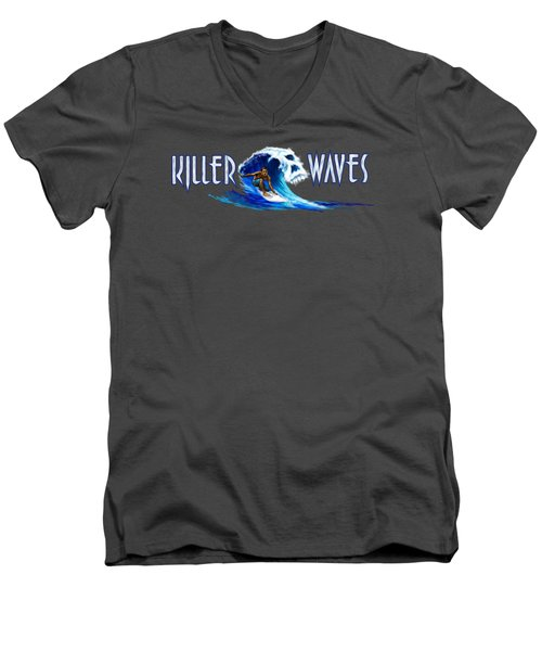 Killer Waves Dude Men's V-Neck T-Shirt