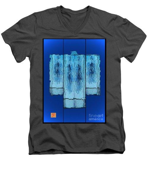 Kimono In Blue Men's V-Neck T-Shirt