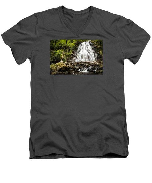 Crabtree Falls - Blue Ridge Parkway North Carolina Men's V-Neck T-Shirt