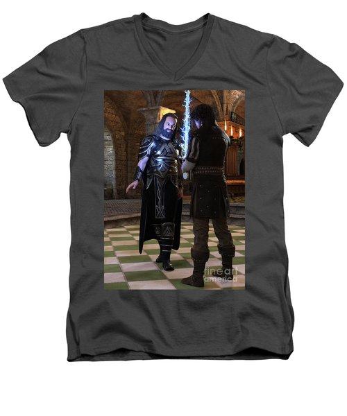 King Edward Men's V-Neck T-Shirt