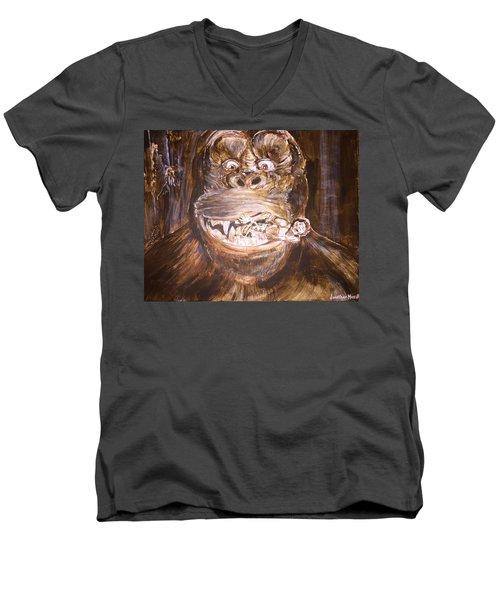 King Kong - Deleted Scene - Kong With Native Men's V-Neck T-Shirt