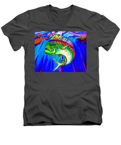 King Mahi-mahi Men's V-Neck T-Shirt