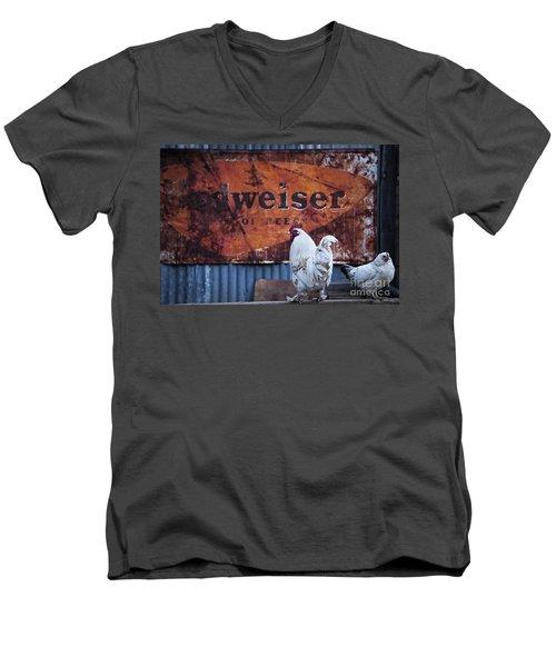 King Of Beer Doodle Do Men's V-Neck T-Shirt by Lee Craig