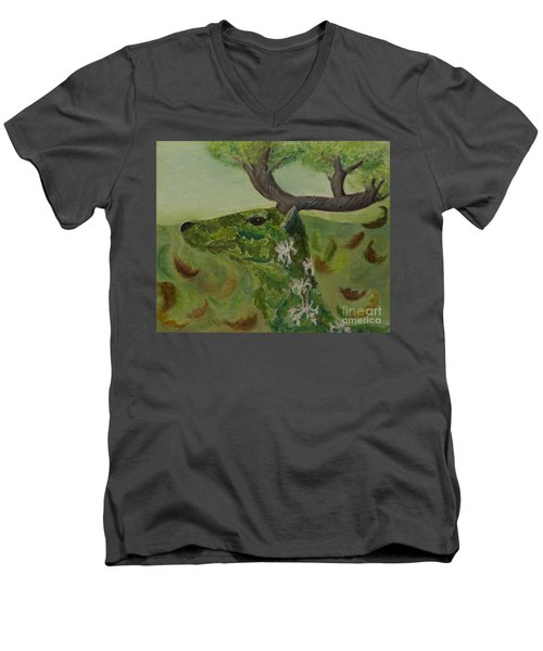 King Of The Forest Men's V-Neck T-Shirt