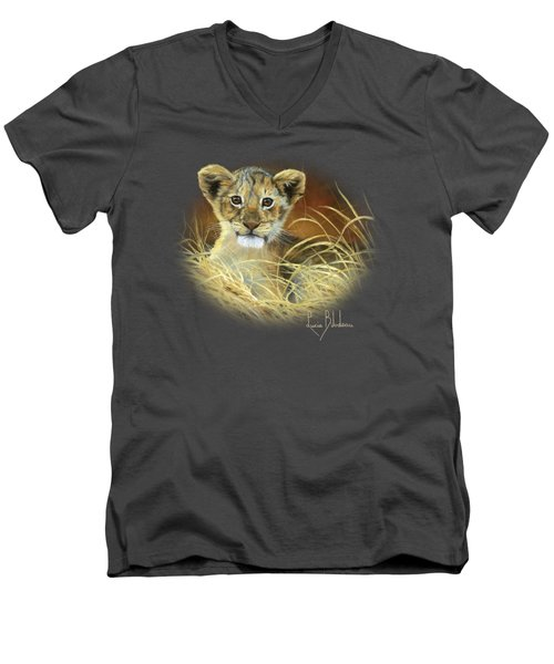 King To Be Men's V-Neck T-Shirt by Lucie Bilodeau