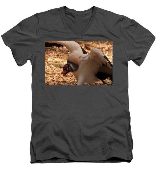 King Vulture 1 Men's V-Neck T-Shirt by Chris Flees