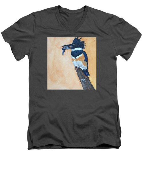 Kingfisher-2 Men's V-Neck T-Shirt