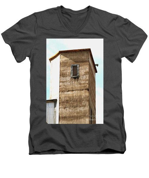 Men's V-Neck T-Shirt featuring the photograph Kingscote Dungeon by Stephen Mitchell