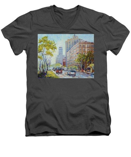 Kingshighway Blvd - Saint Louis Men's V-Neck T-Shirt by Irek Szelag