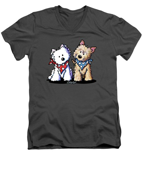 Kiniart Butch And Sundance Men's V-Neck T-Shirt