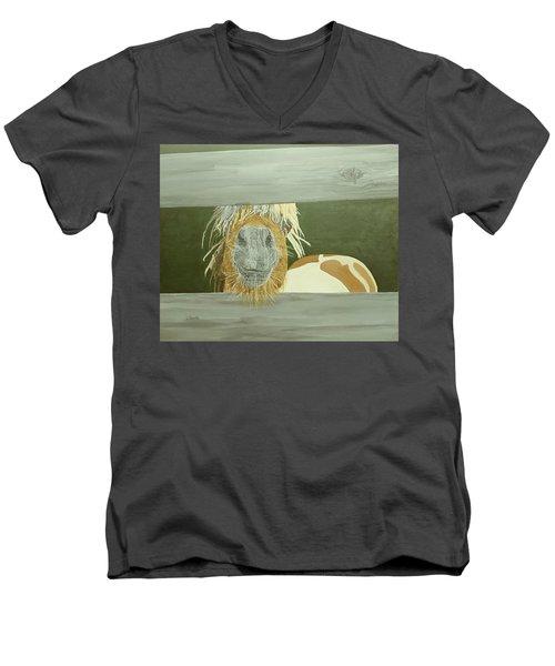 Kiss Me Baby Men's V-Neck T-Shirt