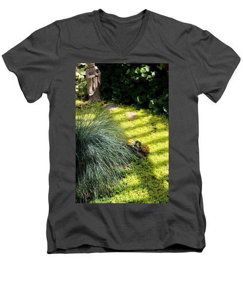 Men's V-Neck T-Shirt featuring the photograph Kissing Cousins by Marie Neder