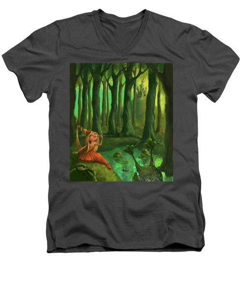 Kissing Frogs Men's V-Neck T-Shirt