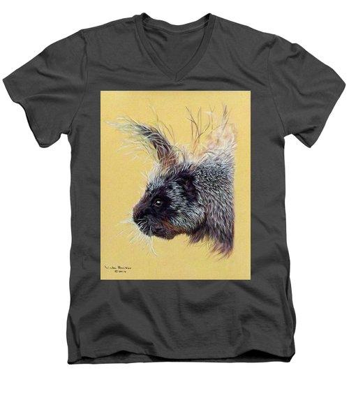Kit Men's V-Neck T-Shirt by Linda Becker