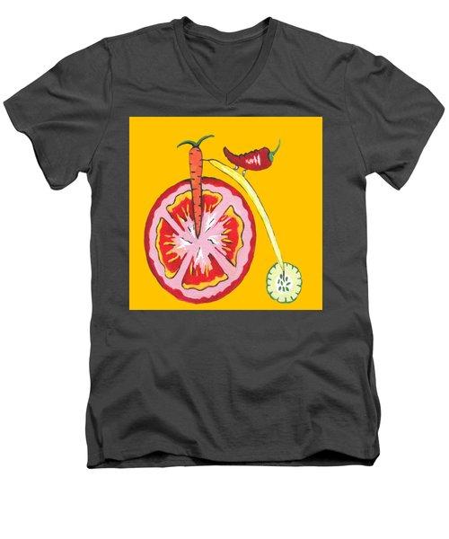 Kitchen Vegetable Art Men's V-Neck T-Shirt