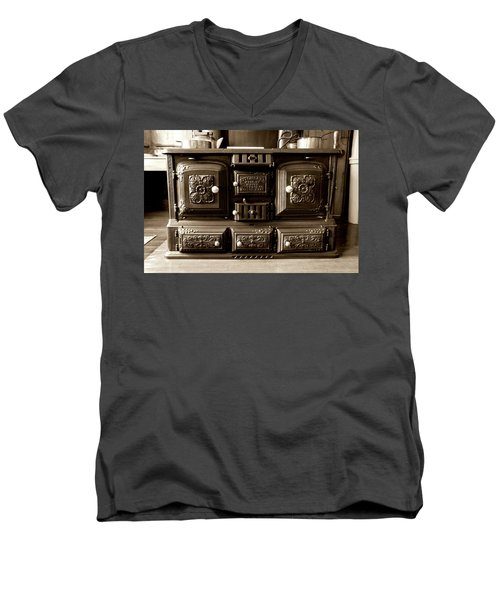 Men's V-Neck T-Shirt featuring the photograph Kitchener by Greg Fortier