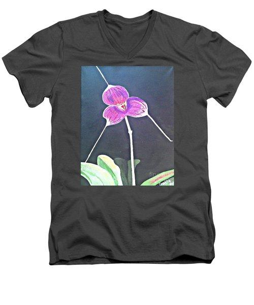 Kite Orchid Men's V-Neck T-Shirt by Francine Heykoop