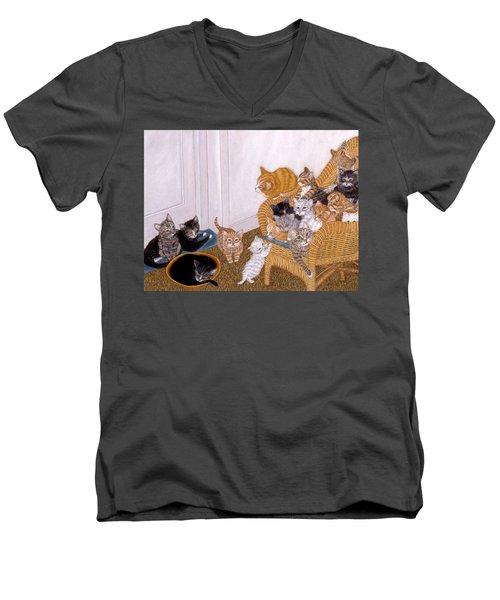 Kitty Litter II Men's V-Neck T-Shirt