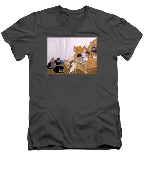 Kitty Litter II Men's V-Neck T-Shirt