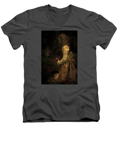 Kneeling In The Garden Men's V-Neck T-Shirt