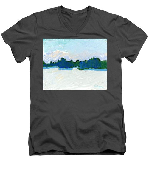 Knife Lake Men's V-Neck T-Shirt by Rodger Ellingson