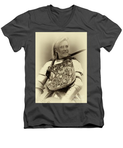 Men's V-Neck T-Shirt featuring the photograph Knights Of Old 17 by Bob Christopher