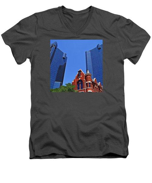 Knights Of Pythias Castle Hall Men's V-Neck T-Shirt by Kathy Churchman