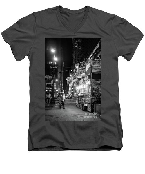 Knish, New York City  -17831-17832-bw Men's V-Neck T-Shirt