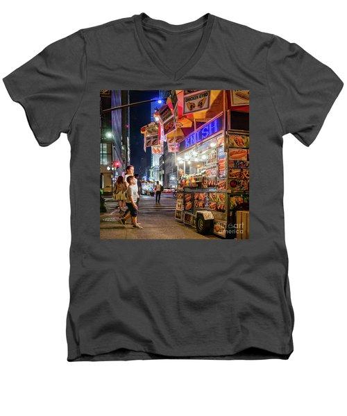 Knish, New York City  -17831-17832-sq Men's V-Neck T-Shirt