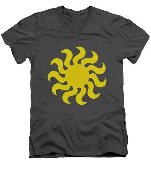 Knitted Sun Men's V-Neck T-Shirt by Anton Kalinichev
