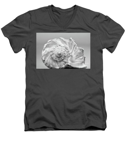 Men's V-Neck T-Shirt featuring the photograph Knobbed Whelk by Benanne Stiens
