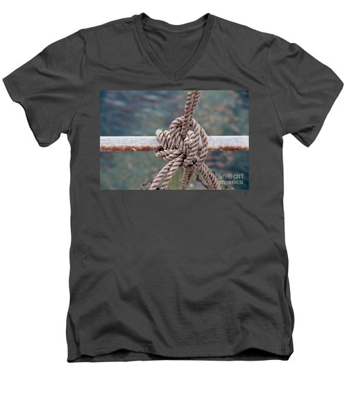 Men's V-Neck T-Shirt featuring the photograph Knot Of My Warf by Stephen Mitchell