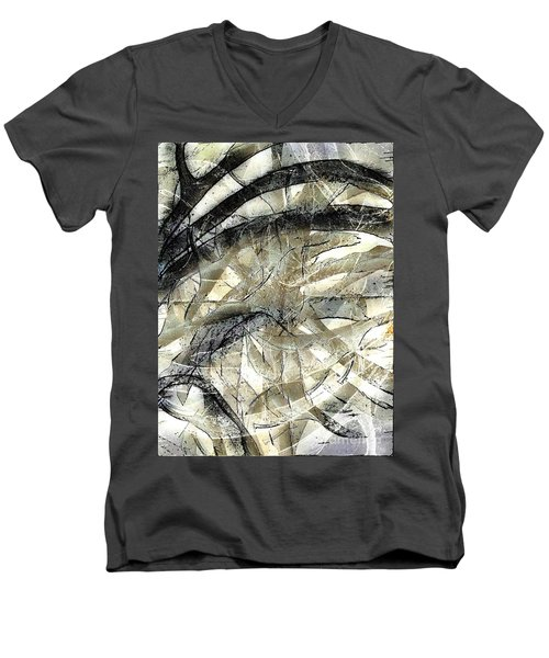 Men's V-Neck T-Shirt featuring the painting Knotty by Vicki Ferrari