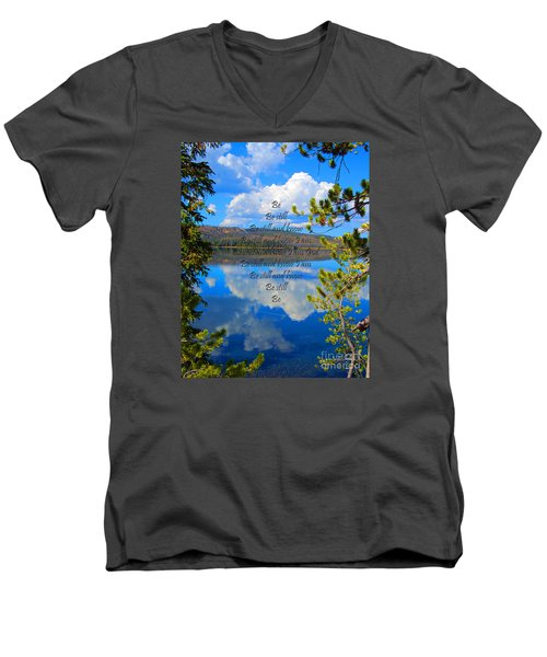 Men's V-Neck T-Shirt featuring the photograph Know I Am by Diane E Berry